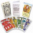 Tarot de Blain et livret initiation (style Marseille ou carte oracle 22 arcanes)