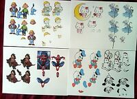 4 x A4 Sheets Assorted Decoupage inc; Harry Potter  Hello kitty 8xA5 pictures
