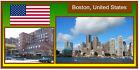 Boston USA - ENORME Magnete del frigorifero - NUOVO