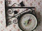 European Rural Double-Sided Wrought Iron Mute Living Room Wall Clock