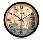 Mediterranean Quartz Mute Living Room/Bedroom 12-inch Black Wall Clock ZR-202