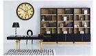 E45 European Quartz Clock Black 12 Inches Mute Round Wall Living Room Clock