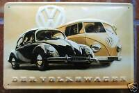 VW Bus T1 & Beetle Volkswagen Metal Sign pretzel beetle