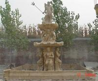 GREAT MONUMENTAL HAND CARVED NATULUS FIGURAL FOUNTAIN