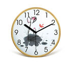 Rural Mute Wooden Color Frame 32*32*4.5 CM Living Room/Bedroom Wall Clock E2
