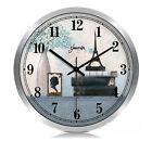 European Rural Quartz Mute Living Room/Bedroom 14-inch Silver Wall Clock ZR-203