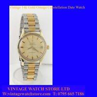 Mint 14k Gold Retro Omega Constellation Date Watch 1966
