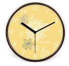 Modern Mute Brown Frame Wooden 32*32*4.5 CM Living Room/Bedroom Wall Clock E35