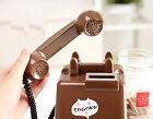 Lovely Style S 10.2*11*16.2 CM Brown Plastic Homeware Telephone Model Piggy Bank