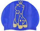 New Cartoon High Quality Silica Gel Blue Options Swimming Cap/Bathing Cap