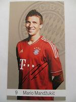Handsignierte AK Autogrammkarte *MARIO MANDZUKIC* Bayern München 12/13 2012/2013