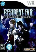 RESIDENT EVIL THE DARKSIDE CHRONICLES Nintendo Wii Game