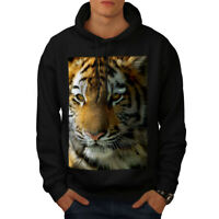 Wellcoda Tiger Photo Nature Animal Mens Hoodie, The Casual Hooded Sweatshirt