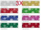 AS015 W 22 MM Snowflake Christmas Gift Packaging Belt Wholesale Lots 3 PCS
