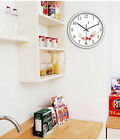 E48 European Quartz Clock White 12 Inches Mute Flower Pattern Wall Clock