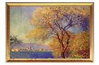 *Size 60*80CM Golden Frame Scenery Pattern Modern Art Handmade Oil Painting
