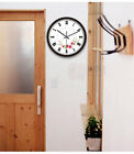 E47 European Quartz Clock Black+White 12 Inches Mute Flower Pattern Wall Clock