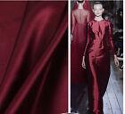 AF-30 Wine Red W 1* L 1 M DIY Handmade Silk Stretch Satin Colthing Fabric