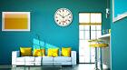 E52 European Quartz Clock Beige+White 12 Inches Mute Flower Pattern Wall Clock