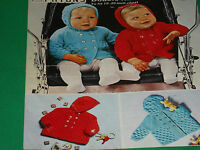 Baby's Hooded Jacket size 19/20  knitting pattern