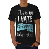 Wellcoda Hate Everyone Today Mens T-shirt, Funny Graphic Design Printed Tee