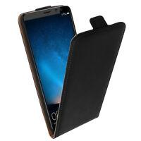 Etui Huawei Mate 10 Lite Housse rabat vertical coque silicone gel Noir