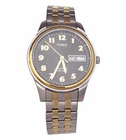 New T26481 Timex Men's Classic Two-Tone Expansion Band Stainless Steel Day Date