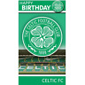 Celtic Football Happy Birthday Crest Card with Badge CE001