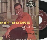 PAT BOONE disco EP 45 g. ITALY Sings the Hits NUMBER 3