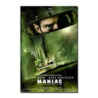 137592 MANIAC Horror Movie FRAMED CANVAS PRINT Toile