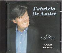 """FABRIZIO DE ANDRE'-RARO CD-ROM""""FABRIZIO DE ANDRE'"""""""