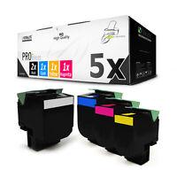 5x PRO Toner für Lexmark C-540-N X-544-N C-544-DW X-544-DW X-544-DN X-543-DN