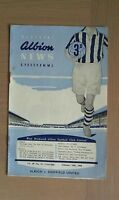 WEST BROMWICH ALBION V SHEFFIELD UNITED 1957-58