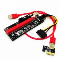 5X(USB 3.0 ver009S PCI-E Express 1x To 16x Extender Riser Card Adapter Cable KI