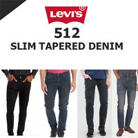 Men's Genuine Levi's 512 Stretch Classic Slim Fit Tapered Denim Jeans / Trousers