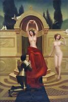 Hand Painted Oil Painting Repro John Collier In Venusburg 24x36in