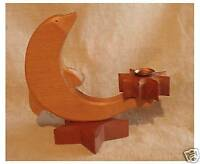 Wooden Dolphin Shaped Candle Holder