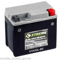 BATTERY  Xtreme AGM Permaseal XTAX5L-BS Scooter, ATV, 1 Yr Warr