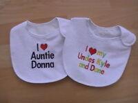 Personalised Baby Boys Bib, Christening or Birth Gift