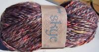 Knitting Yarn Wendy Skye DK Lilac, Purple, Orange Slate