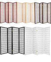 4 & 3 Panel Wood Flowered Shoji Room Divider Screen