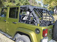 4 Door Jeep Wrangler Three Piece Wraparound Cargo Net