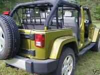 4 Door Jeep Wrangler Rear Seat Barrier Net