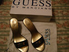 SCARPE SHOES WOMAN DONNA CIABATTE NERO E ORO GUESS BY MARCIANO N°39