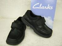 Boys SALE Clarks Corbett Inf & Jnr Black Leather Smart School Shoes