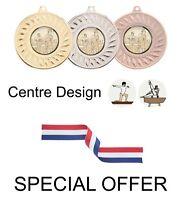 SPECIAL OFFER 10x Gymnastics 45mm Metal Medals & Ribbon