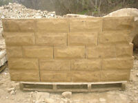 **NEW** 140mm Sawn Pitched Face Yorkshire Stone Walling