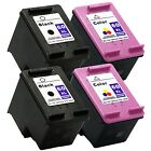 4PK HP 60XL 60 XL Ink Cartridge CC641WN CC644WN Combo DeskJet