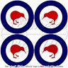 "New Zealand Air Force RNZAF Roundel 50mm/2"" Stickers x4"