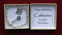 18TH 21ST BIRTHDAY SILVER CHARM BRACELET IN PERSONALISED GIFT BOX ADULT
